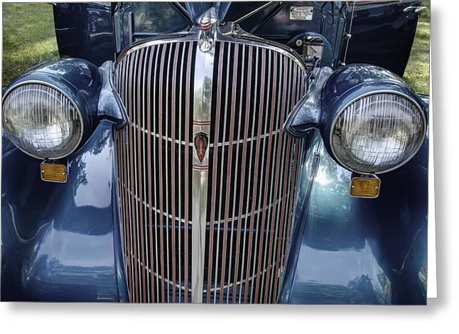 Touring Car Greeting Cards - 1936 F-36 Oldsmobile Touring Sedan  Greeting Card by Thomas Young