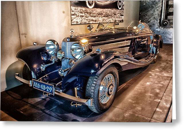 Auto-portrait Greeting Cards - 1936 Mercedes Benz 500K Greeting Card by Mountain Dreams