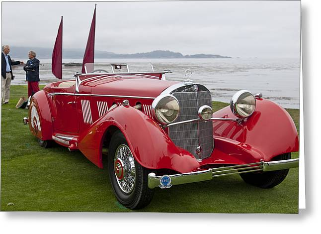 Pebble Beach Car Show Greeting Cards - 1936 Mercedes-Benz 540K Mayfair Special Roadster Greeting Card by Jill Reger