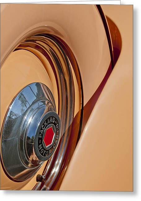 1936 Packard Spare Tire  Greeting Card by Jill Reger