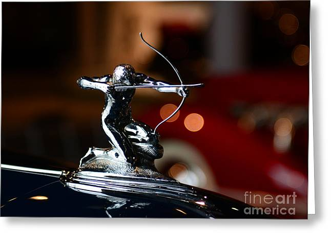 1936 Pierce Arrow Hood Ornament Greeting Card by Paul Ward
