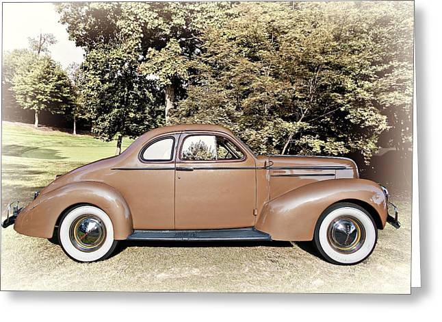 Up And Coming Greeting Cards - 1936 Studebaker Dictator  Greeting Card by Marcia Colelli