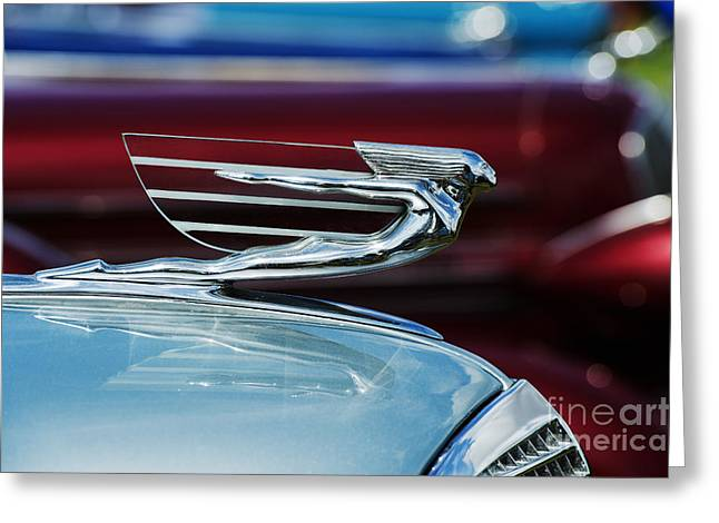 Color Colorful Greeting Cards - 1937 Cadillac Hood Ornament Greeting Card by Tim Gainey
