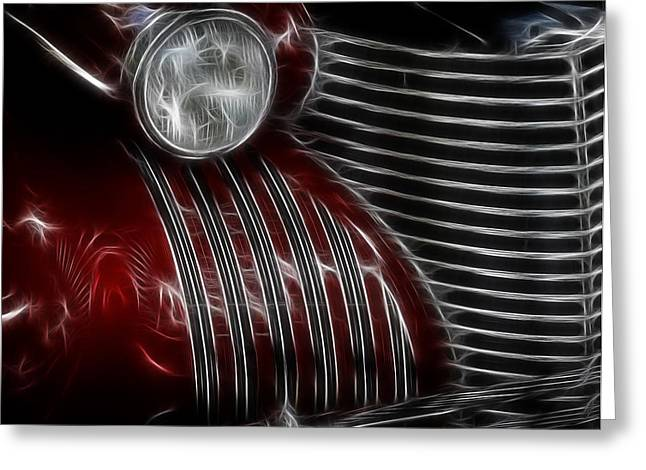 1950 Merc Greeting Cards - 1937 Cadillac Greeting Card by Steve McKinzie