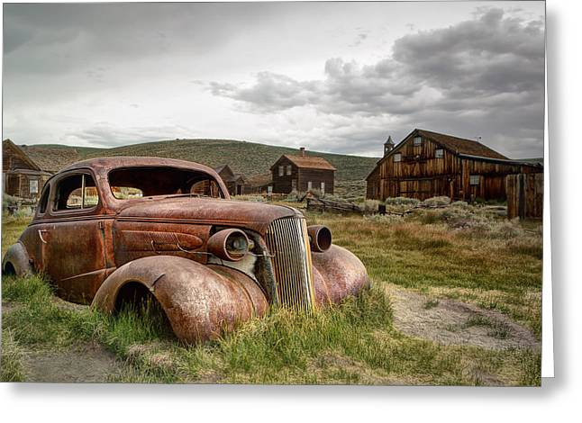 Toby Greeting Cards - 1937 Chevrolet Coupe @ Bodie Greeting Card by Chris Frost
