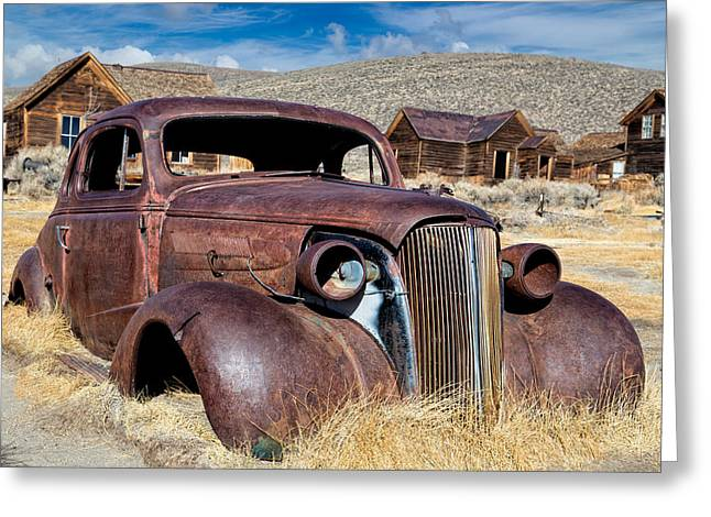 Kathleen Hill Greeting Cards - 1937 Chevrolet Coupe at Bodie Greeting Card by Kathleen Bishop