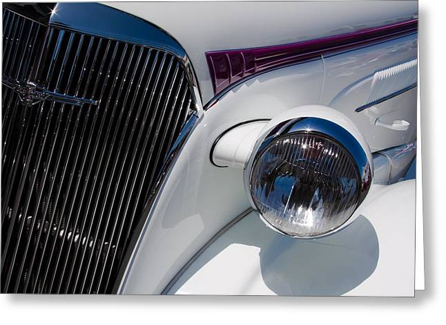 1937 Chevy Greeting Cards - 1937 Chevy 2 Door Coupe Greeting Card by David Patterson