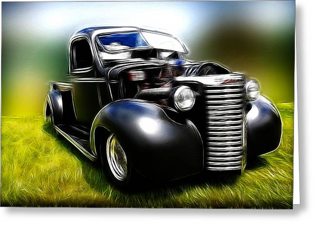 1932-1937 Greeting Cards - 1937 Chevy Truck Greeting Card by Steve McKinzie