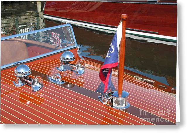 Chris Craft Custom Greeting Cards - 1937 Chris Craft Runabout Greeting Card by Neil Zimmerman
