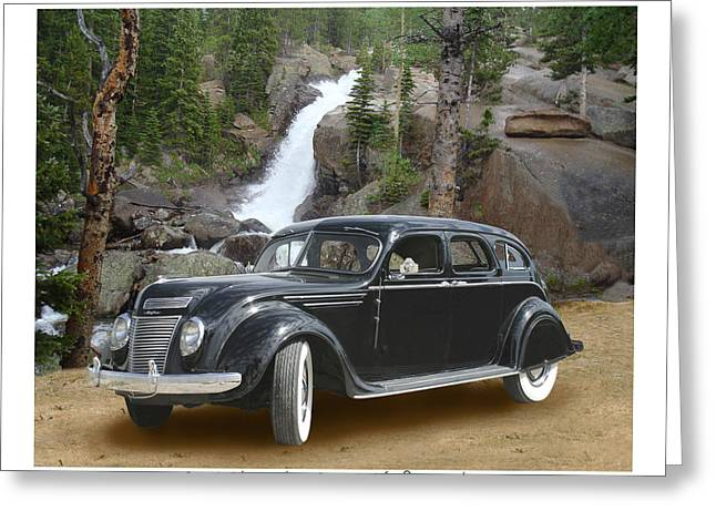 The Help Greeting Cards - 1937 Chrysler C-17 Airflow eight sedan Greeting Card by Jack Pumphrey