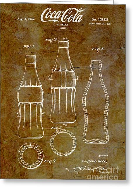 Kelly Digital Art Greeting Cards - 1937 Coca Cola Bottle Design Patent Art 6 Greeting Card by Nishanth Gopinathan