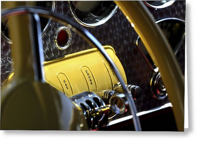Cord Greeting Cards - 1937 Cord 812 Phaeton Controls Greeting Card by Jill Reger