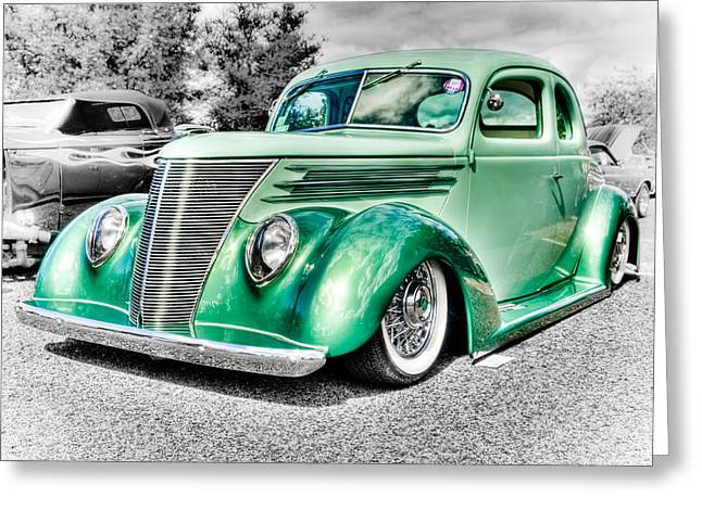 Ford Street Rod Greeting Cards - 1937 Ford Coupe Greeting Card by Phil