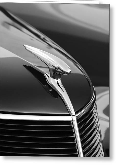 Latch Greeting Cards - 1937 Ford Hood Ornament 4 Greeting Card by Jill Reger