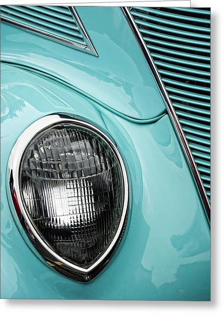 Headlight Greeting Cards - 1937 Ford Sedan Slantback Greeting Card by Carol Leigh