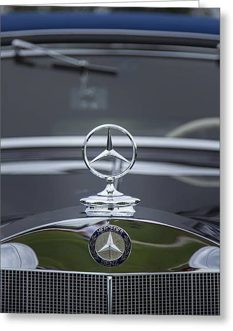 Motor Meter Greeting Cards - 1937 Mercedes Benz Greeting Card by Jack R Perry