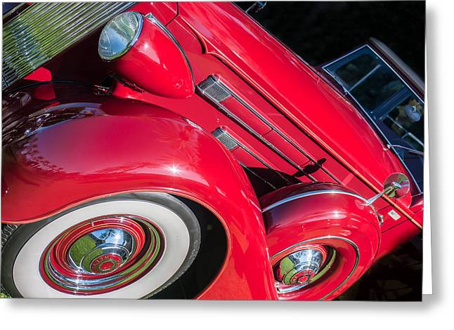 Dietrich Greeting Cards - 1937 Packard 1508 Dietrich Convertible Sedan Greeting Card by Jill Reger