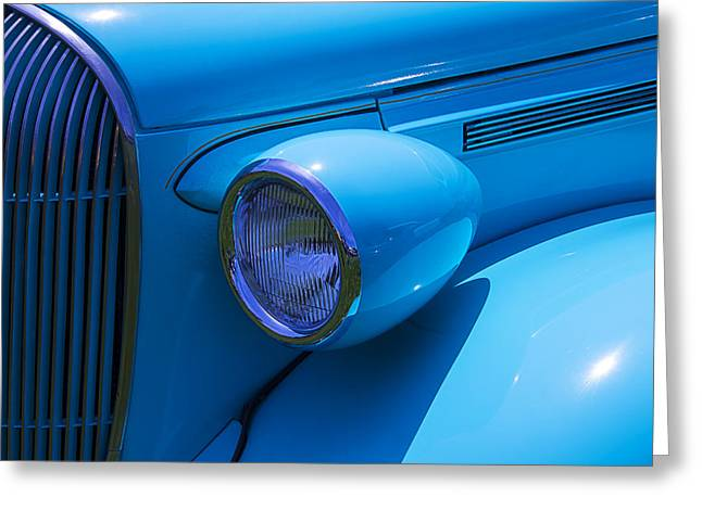 Motorized Greeting Cards - 1938 Blue Plymouth Coupe Greeting Card by Garry Gay