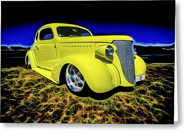 Phil Motography Clark Greeting Cards - 1938 Chevrolet Coupe Greeting Card by motography aka Phil Clark