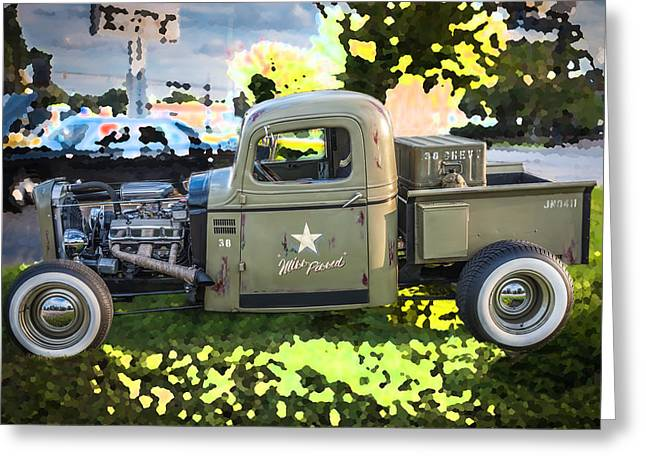 Pickup Truck Door Greeting Cards - 1938 Chevy Pick up Truck Rat Rod Greeting Card by Rich Franco