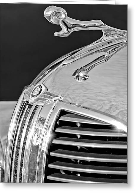 1938 Greeting Cards - 1938 Dodge Ram Hood Ornament 4 Greeting Card by Jill Reger