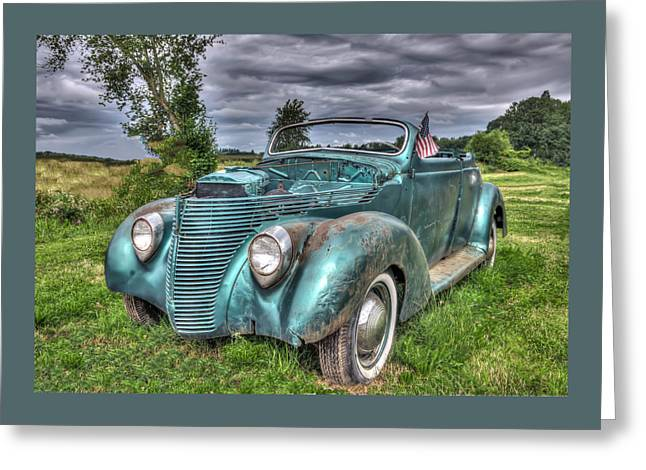 Digital Photography Greeting Cards - 1938 Ford Convertible Greeting Card by Thom Zehrfeld