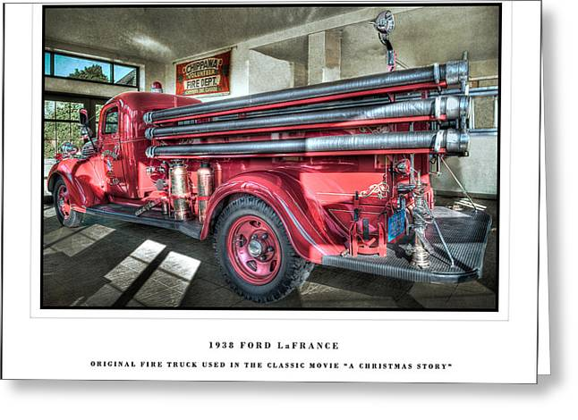 A Christmas Story Greeting Cards - 1938 ford La france Greeting Card by Paula Cheese