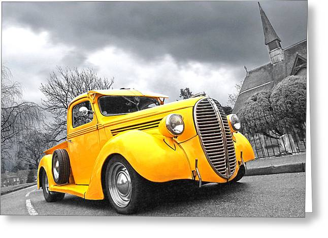 Classic Pickup Greeting Cards - 1938 Ford Pickup Greeting Card by Gill Billington
