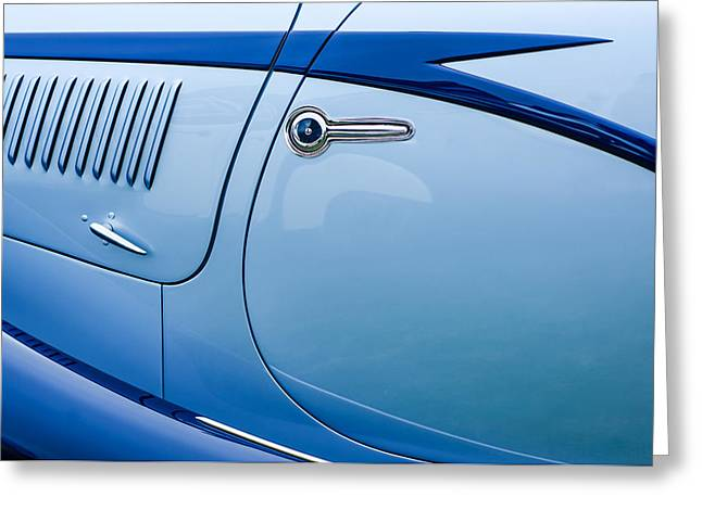 1938 Greeting Cards - 1938 Talbot-Lago 150C SS Figoni and Falaschi Cabriolet Side Door Handle Greeting Card by Jill Reger