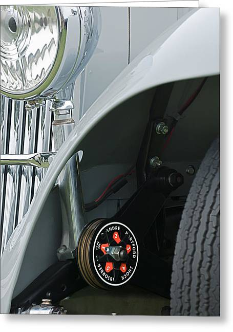 Controlled Greeting Cards - 1939 Aston Martin 15-98 Abbey Coachworks SWB Sports Suspension Control Greeting Card by Jill Reger