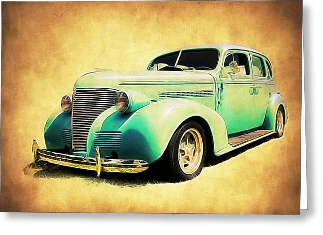 Fleetmaster Greeting Cards - 1939 Chevy Sedan Greeting Card by Steve McKinzie