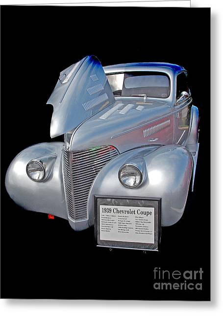Car Part Greeting Cards - 1939 Chevy Greeting Card by Skip Willits