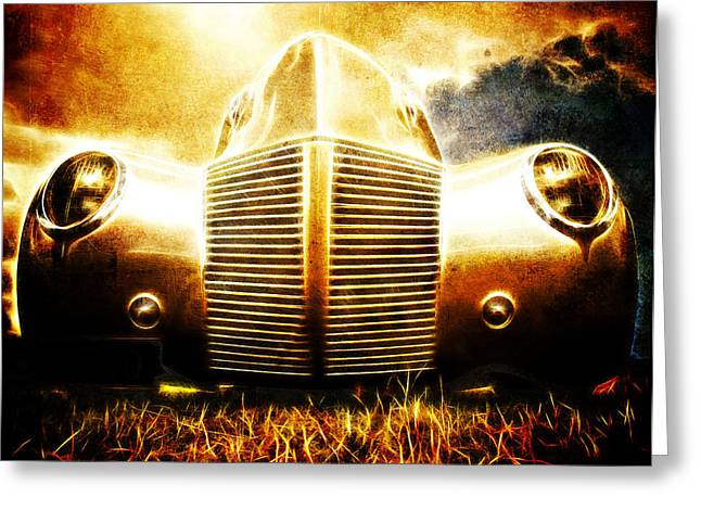 Custom Automobile Greeting Cards - 1939 Ford Roadster Greeting Card by Phil