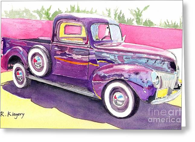 Classic Pickup Paintings Greeting Cards - 1939 Ford Truck Greeting Card by Ralph Kingery