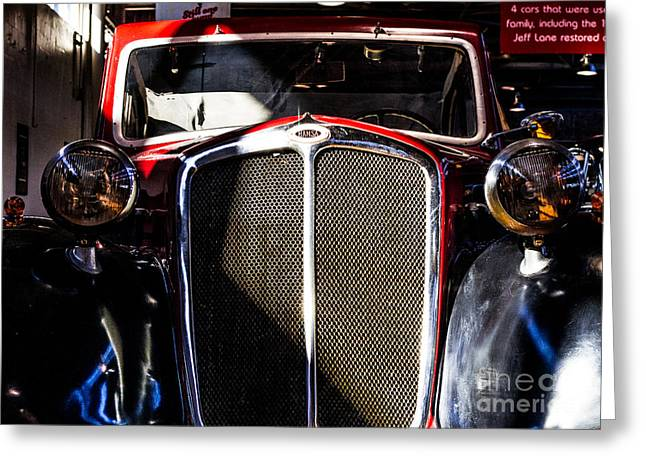 Rally Greeting Cards - 1939 Hansa 1100 With Sun Reflection Greeting Card by Photo Captures by Jeffery