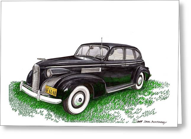 This Is It. Greeting Cards - 1939 LaSalle 5019 Sedan Greeting Card by Jack Pumphrey