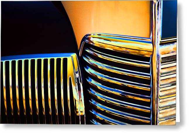 Complementary Greeting Cards - 1939 Studebaker Champion Grille Greeting Card by Carol Leigh
