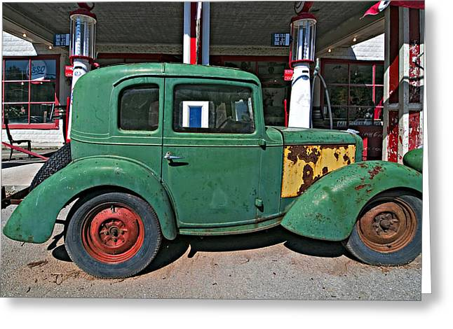 Esso Greeting Cards - 1940 Bantam Coupe Greeting Card by Steve Harrington