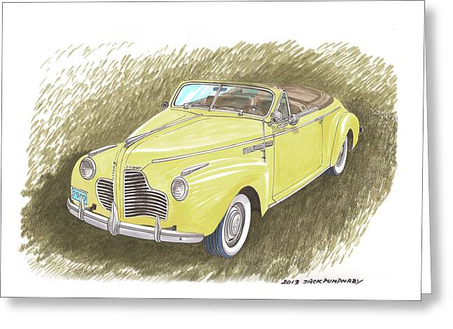 Full Body Drawings Greeting Cards - 1940 Buick Super Convertible Greeting Card by Jack Pumphrey