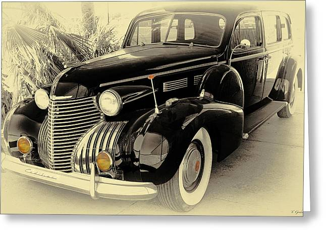 Limo Greeting Cards - 1940 Cadillac Limo Greeting Card by Tony Grider