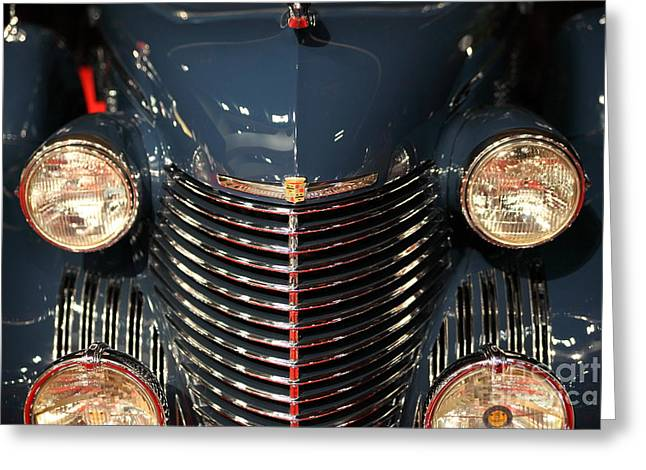 Caddy Greeting Cards - 1940 Cadillac Series 75 V8 Town Car 5D26649 Greeting Card by Wingsdomain Art and Photography