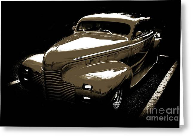 Masters Pictures Greeting Cards - 1940 Chevrolet Master Artistic Classic Car Automobile Sepia  311 Greeting Card by M K  Miller