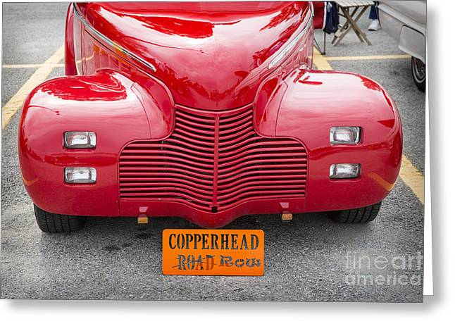 Masters Pictures Greeting Cards - 1940 Chevrolet Master Classic Car Automobile Front End Color  31 Greeting Card by M K  Miller