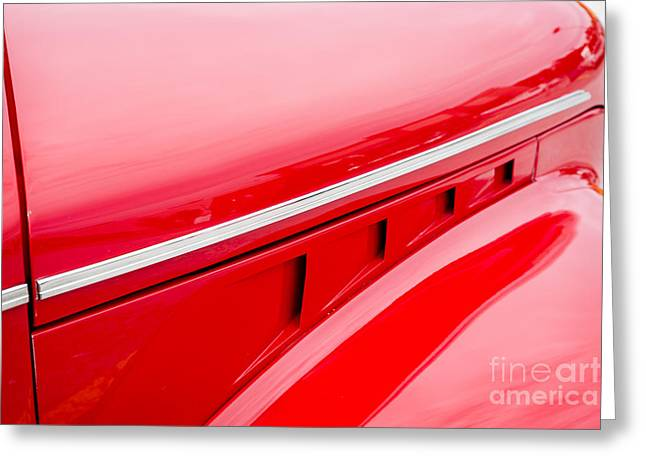 Masters Pictures Greeting Cards - 1940 Chevrolet Master Classic Hood  Color  3114.02 Greeting Card by M K  Miller