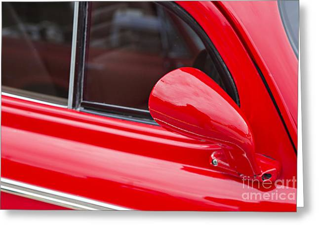 Masters Pictures Greeting Cards - 1940 Chevrolet Master Classic Mirror  Color Red  3113.02 Greeting Card by M K  Miller