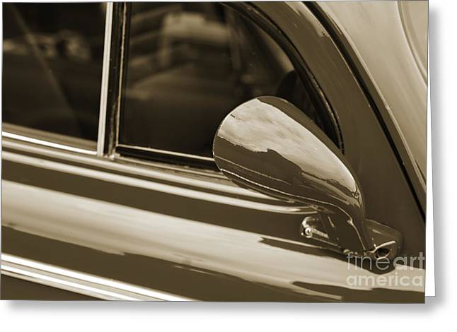 Masters Pictures Greeting Cards - 1940 Chevrolet Master Classic Mirror  Sepia  3113.01 Greeting Card by M K  Miller