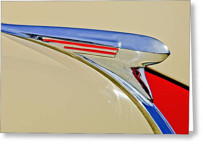 Car Mascot Greeting Cards - 1940 Chevrolet Pickup Hood Ornament 2 Greeting Card by Jill Reger