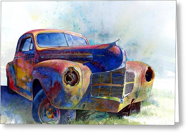 Vintage Auto Greeting Cards - 1940 Dodge Greeting Card by Andrew King