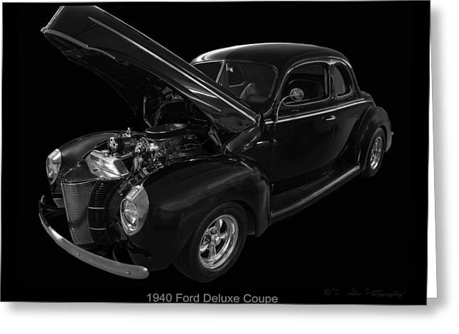 Photos On Canvas Greeting Cards - 1940 Ford Deluxe Greeting Card by Chris Flees