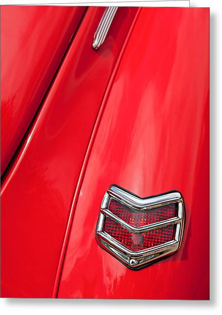 1940 Ford Greeting Cards - 1940 Ford Deluxe Coupe Taillight Greeting Card by Jill Reger